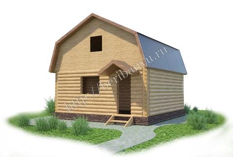 Баня 6х6 с мансардой под крышу